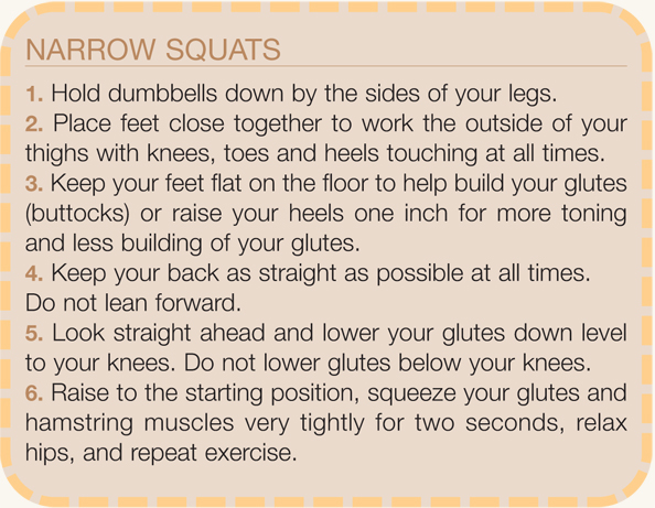 Directions for Narrow Squat Summer 2010 exercise