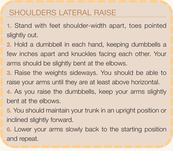 Shoulder Lateral Raise directions
