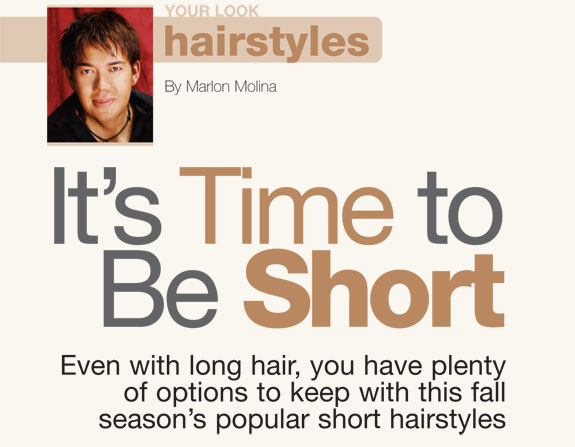 Hairstyles lead: It's Time to be Short