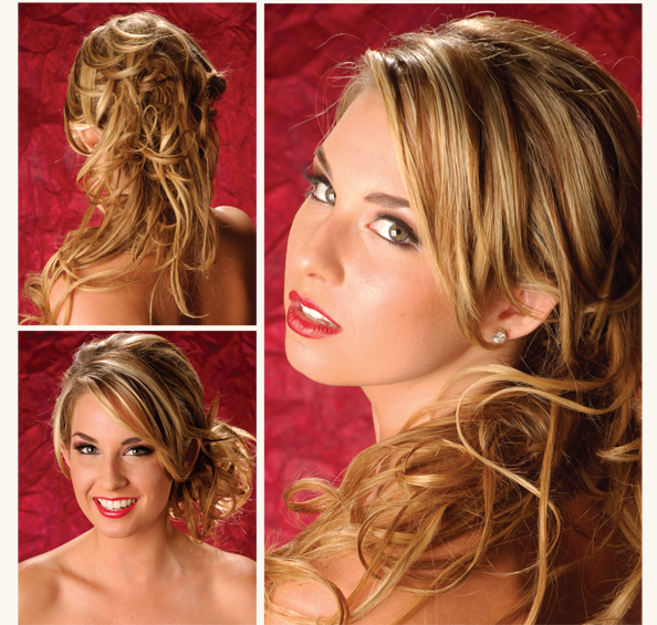 hairstyles for prom 2011 for medium length hair. half up half down. Half Up