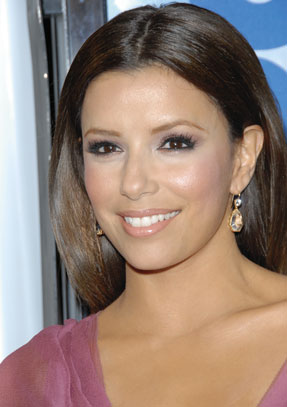 Eva Longoria-Parker Purple Makeup