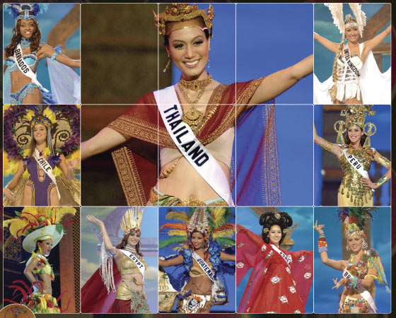 5fc1682d4 COSTUME PARTY: All 81 Miss Universe candidates participate in the 2005 Miss  Universe National Costume Show, including special National Costume Award  winner ...