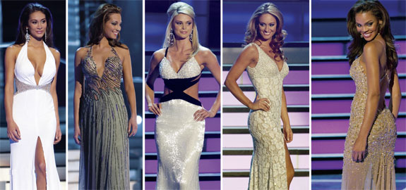 Miss USA 2008 Final Five Gowns