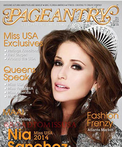 Pageantry magazine Fall 2014 Nia Sanchez