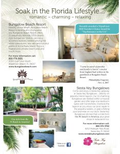 bungalow beach resort, siesta key resort