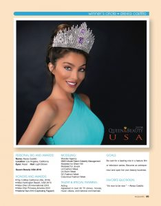 Pageantry magazine Winners Circle Alexia Castillo
