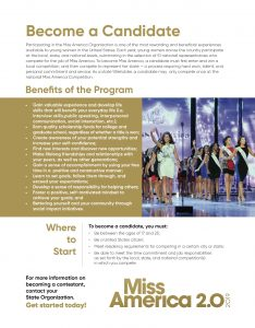 Miss America, Miss America Competition, beauty, glamour, pageant, scholarships, MIss America 2.0