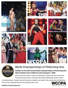 WCOPA, performong arts competition. modeling competition, international competitions, modeling, runway modeling, dance, singing, acting
