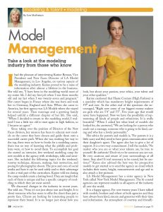model management, modeling manager, modeling tips, modeling industry