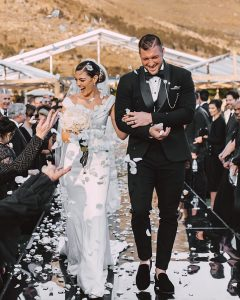 Miss Universe 2017 Demi-Leigh Nel-Peteers marries former Florida Gators quarterback and Heisman winner Tim Tebow in her homeland of South Africa before an estimated 300 guests.