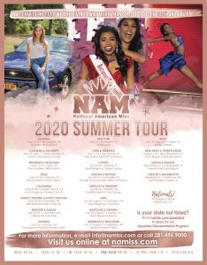 National American Miss Pageant is a natiuonal pageant awarding two titlkes, National American Miss and National All-Americcan Miss titles within 6 age divisions.