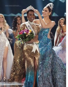 Miss Universe 2019 Zozibini captures the title of Miss Universe and was crowned by her predecessor Miss Universe 2018 Catriona Gray