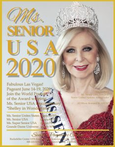 Ms. Senior USA Pageant is for senior women ages 50 ad above who compete within four age divisions.