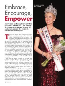 Senior women compete in several age categories for the title of the Sr. Universe Pageant