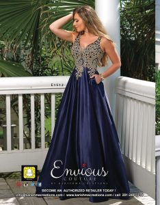 Envious Couture is a fashion designer and manufacturer of prom dress, pageant gown, pageant evening gown, and homecoming dress. Envious Couture is a social occasion dress division of Karishma Creations.