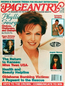 Pageantry magazine Winter 1995 issue featuring Phyllis George