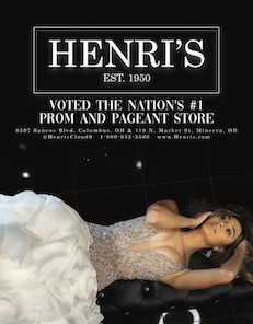 Henri's is a national fashion boutique specializing in prom dres, pageant gown, pageant evening gown, and bridal dresses.