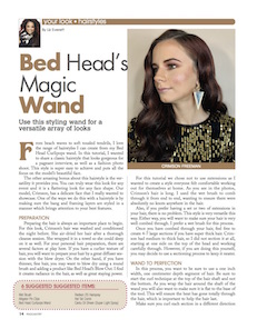 bed head curlipops wand, styling wand, long hair, hairstyle