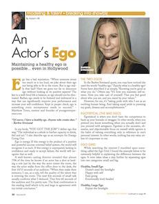 actor, actress, big ego, ego, acting ego, acting