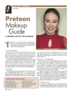 preteen makeup, makeup tutorial, daytime makeup, stage malkeup, photoshoot makeup